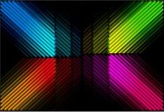 Diagonale retro kleurenbars Royalty-vrije Stock Fotografie