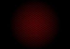 Diagonale rossa di griglia del laser nel cerchio Immagini Stock