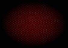 Diagonale rossa di griglia del laser nel elipse Immagine Stock Libera da Diritti