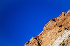 Diagonale Rots Cliff Face stock afbeelding