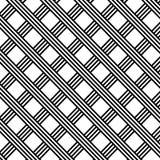 Diagonale Schwarzweiss-Streifen-Gitter-Illustration Lizenzfreie Stockfotos