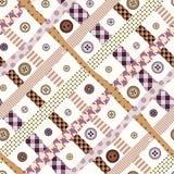 Diagonale senza cuciture a quadretti rosa Immagini Stock