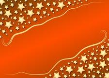 Diagonale sterren op rode gradiënt Stock Afbeeldingen