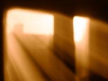 Diagonale Strahlen des Lichtes von Fenster bokeh Hintergrund Stockfoto