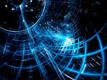 Diagonale tunnel - abstract digitaal geproduceerd beeld Royalty-vrije Stock Foto's