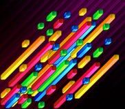 Diagonale veelkleurige bars Stock Afbeeldingen