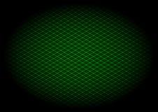 Diagonale verde di griglia del laser nel elipse Fotografie Stock Libere da Diritti