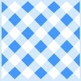 Diagonale weiße und blaue Gitter-Zelle in Gerade verflochtenem Muster Nahtloser schräg liegender Mesh Net Kreatives Backgdrop vektor abbildung