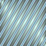 Diagonaler blauer und silbriger gestreifter Hintergrund Stockfotos