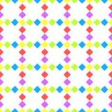 Diagonaler Diamant quadriert nahtloses Muster Stockbild