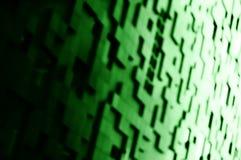 Diagonales Grün blockiert bokeh Hintergrund Stockfoto