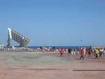 Diagonales Mrz Barcelona Lizenzfreie Stockbilder
