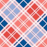 Diagonales nahtloses Muster im Rot blaue modische Farben Lizenzfreies Stockbild