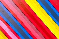 Diagonally kolorowe deski Zdjęcia Royalty Free