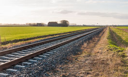 Diagonally railroad Royalty Free Stock Image