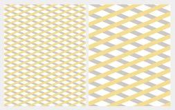 Diagonalna siatka z szarość i kolorem żółtym Paskuje Odosobnionego na Białym Backgroud ilustracja wektor