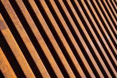 Diagonalne stalowe Linie Kolejowe Obrazy Stock