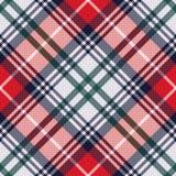 Diagonalnego tartanu bezszwowa tekstura w czerwonych i jasnopopielatych odcieniach royalty ilustracja