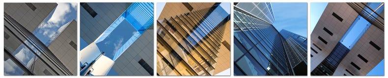 Diagonalt - modern arkitektur Arkivfoton
