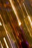Diagonalt panorera skapar abstrakt begrepp av julgranljus Royaltyfri Fotografi