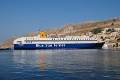 Diagoras ferry, Symi island Royalty Free Stock Photo