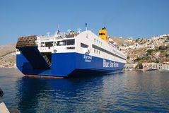 Diagoras ferry, Symi island Royalty Free Stock Images