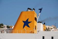 Diagoras ferry, Symi island Royalty Free Stock Images