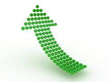 Diagram стрелка изолированная на белой предпосылке Стоковые Фото