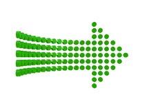Diagram стрелка изолированная на белой предпосылке Стоковое фото RF