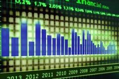 Diagram. Financial diagram monitor, stats report Royalty Free Stock Image