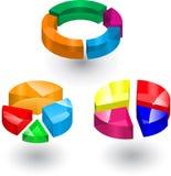 diagram 3d Fotografering för Bildbyråer