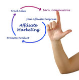 Diagram of Affiliate marketing Royalty Free Stock Image