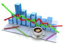 Diagram analysis royalty free stock photography