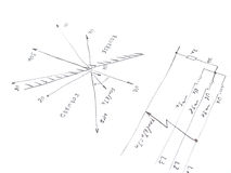 Diagram with analysis of network short circuit. Drawn on paper Stock Photography