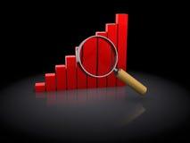 Diagram analyzing Royalty Free Stock Photo