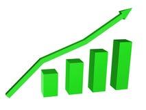 Diagram with a arrow. Diagram with a arrow on a white background Stock Photos