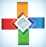Diagram with arrows Stock Photo