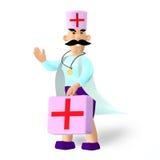 Diagram av doktorn stock illustrationer