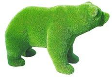 Diagram av en björn som göras från dekorativt gräs royaltyfria foton