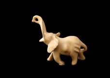 Diagram av en elefant som göras av stenen; Arkivbild