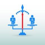 Diagram av folk som står på vågen konkurrens Affär Arkivbilder