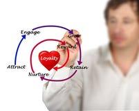 Diagram av lojalitet arkivbild