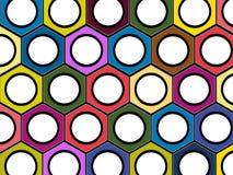 Diagram bakgrund av bultarna Arkivbild