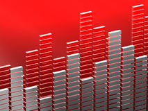 Diagram bar. 3d image of diagram bar suitable for music or finance Royalty Free Stock Images