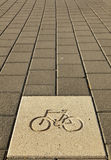 Bicycle Path Sign Stock Photos