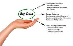 Diagram of big data. Woman presenting Diagram of big data Stock Photos