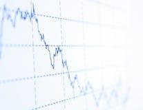 Diagram on blue background Royalty Free Stock Photos