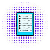 Diagram of brain activity icon, comics style Royalty Free Stock Photography