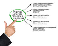 Diagram of Business Analysis. Presenting Diagram of Business Analysis royalty free stock images