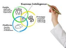 Diagram business intelligence Zdjęcia Stock